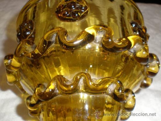Antigüedades: centro para colgar de cristal de guardiola - Foto 5 - 33528702