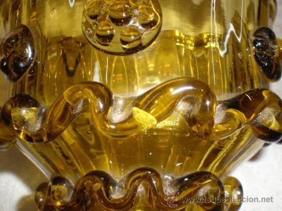 Antigüedades: centro para colgar de cristal de guardiola - Foto 4 - 33528702