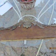 Antigüedades: APLIQUE MADERA TALLADA, FRONTAL DE PUERTA ARMARIO, 60 CMS. Lote 33543995