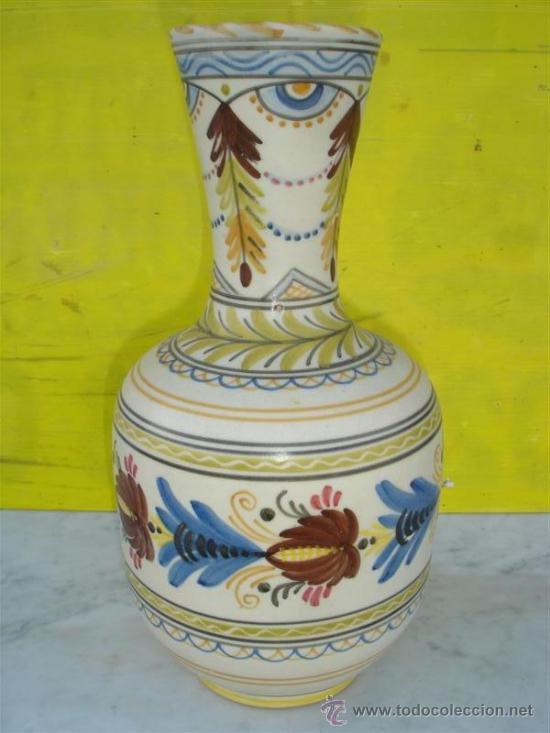 JARRON GRANDE DE TALEVERA (Antigüedades - Hogar y Decoración - Jarrones Antiguos)