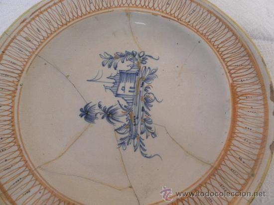Antigüedades: Plato de Cerámica de Manises ó Ribesalbes. Siglo XIX - Foto 3 - 33563239