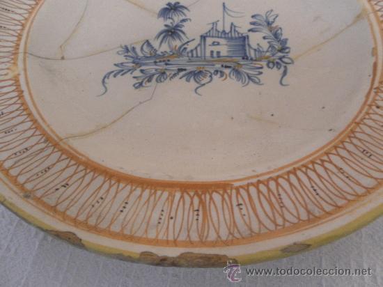 Antigüedades: Plato de Cerámica de Manises ó Ribesalbes. Siglo XIX - Foto 5 - 33563239
