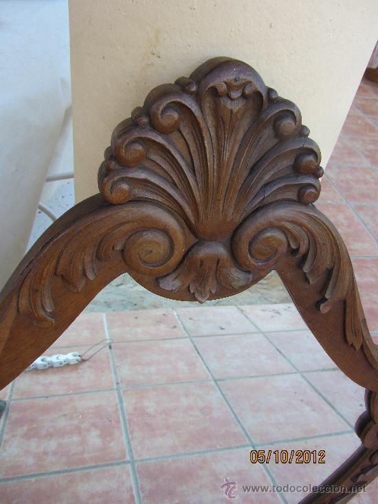 Antigüedades: precioso marco tallado en madera noble, con espejo 896x60 cms - Foto 3 - 33556984
