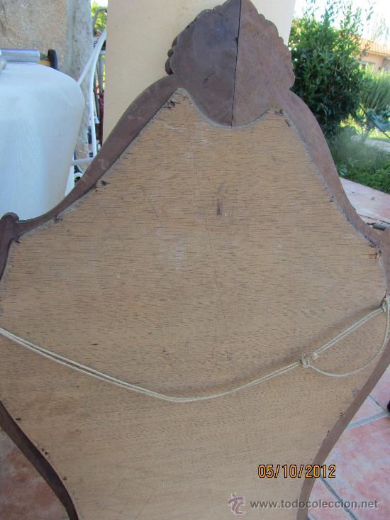 Antigüedades: precioso marco tallado en madera noble, con espejo 896x60 cms - Foto 7 - 33556984