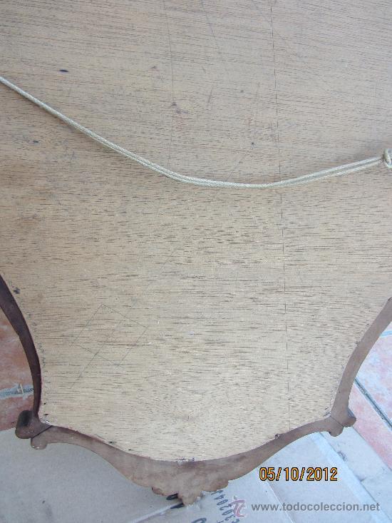 Antigüedades: precioso marco tallado en madera noble, con espejo 896x60 cms - Foto 8 - 33556984
