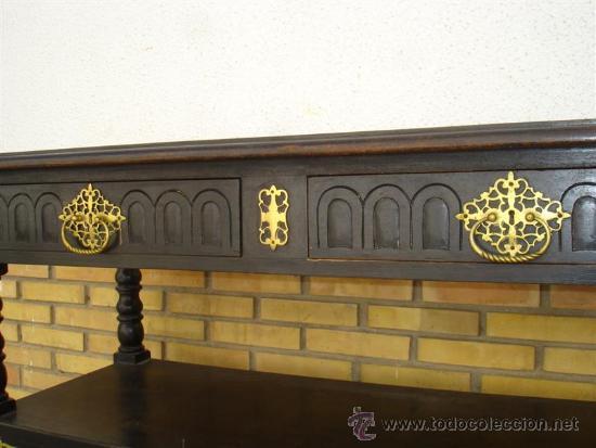 Antigüedades: mueble aparador holandes negro - Foto 2 - 33559324