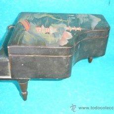 Antigüedades: CAJA MUSICA DE PIANO DE MADERA . Lote 33564146