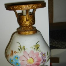 Antigüedades: ANTIGUA LAMPARA DE CERAMICA. VER FOTOS. 35CM ALTO X 19CM ANCHO. Lote 34381049
