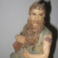 Antigüedades: MOISÉS EN MARFILINA 22 CM. ALTURA. Lote 33585181