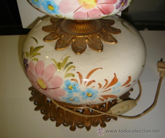 Antigüedades: ANTIGUA LAMPARA DE CERAMICA. VER FOTOS. 35CM ALTO X 19CM ANCHO - Foto 5 - 34381049