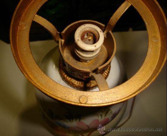 Antigüedades: ANTIGUA LAMPARA DE CERAMICA. VER FOTOS. 35CM ALTO X 19CM ANCHO - Foto 3 - 34381049