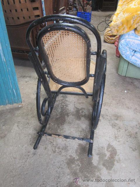 Antigüedades: Mecedora thonet antigua para restaurar. - Foto 5 - 33578674