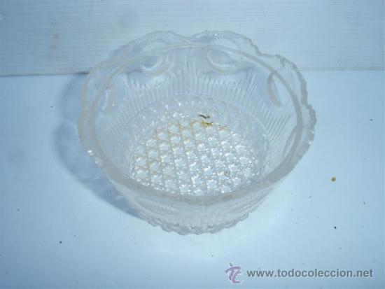 Antigüedades: pequeño cuenco cristal - Foto 2 - 33599097
