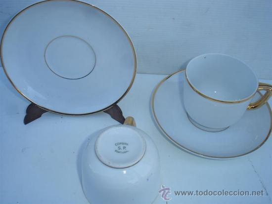 Antigüedades: 2 tazones y platos porcelana - Foto 2 - 33610734