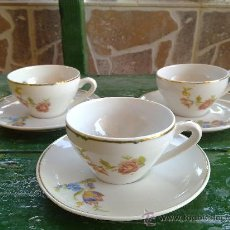 Antigüedades: ANTIGUAS 3 TAZAS DE CAFE , YAGER.. Lote 33618521