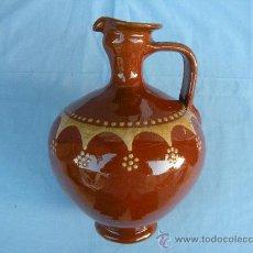 Antigüedades: BOTIJA CÁNTARA ESMALTADA FIRMADA TITO ÚBEDA.. Lote 33630419