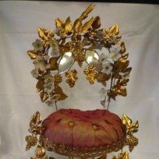 Antigüedades: EXPOSITOR DE JOYAS ANTIGUO EN METAL Y DORADO AL ORO DE LEY U ORMOLU. Lote 33629764