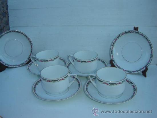 6 PLATOS Y 4 TAZONES DE PORCELANA (Antigüedades - Porcelanas y Cerámicas - Otras)