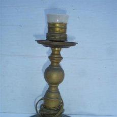 Antigüedades: LAMPARA DE MESILLA BRONCE. Lote 33642269