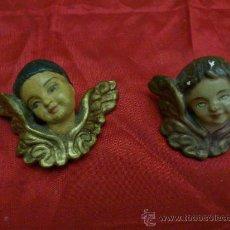 Antigüedades: ANGEL. ANGELES. PEQUEÑA PAREJA DE ANGELES EN ESCAYOLA... 5 X 4 CMS. .... Lote 33650579
