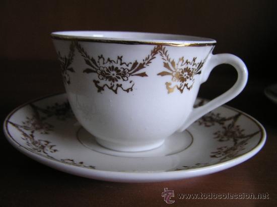 Antigüedades: !!ANTIGUO JUEGO DE CAFÉ PARA ENAMORADOS !!, 2 PLATOS Y 2 TAZAS. - Foto 2 - 33648964