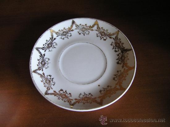 Antigüedades: !!ANTIGUO JUEGO DE CAFÉ PARA ENAMORADOS !!, 2 PLATOS Y 2 TAZAS. - Foto 8 - 33648964