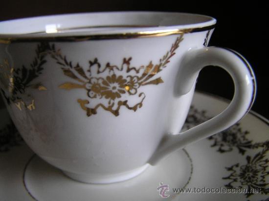 Antigüedades: !!ANTIGUO JUEGO DE CAFÉ PARA ENAMORADOS !!, 2 PLATOS Y 2 TAZAS. - Foto 5 - 33648964
