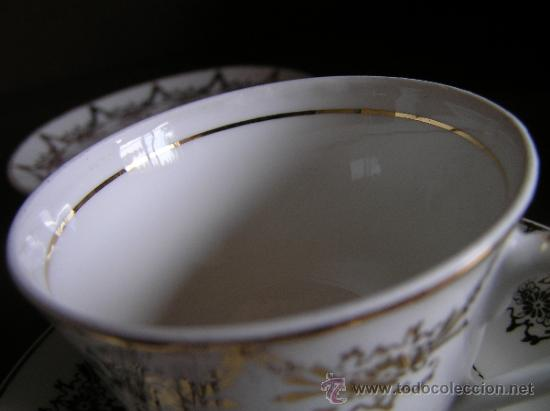 Antigüedades: !!ANTIGUO JUEGO DE CAFÉ PARA ENAMORADOS !!, 2 PLATOS Y 2 TAZAS. - Foto 4 - 33648964