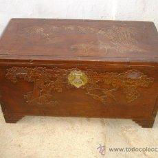 Antigüedades: ARCA ORIENTAL DE MADERA ARCANFON. Lote 33656849