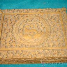 Antigüedades: CAJA DE MADERA MUY TALLADA. Lote 33665055