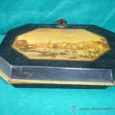 Antigüedades: CAJA DE LATON INGLESA. Lote 33665069