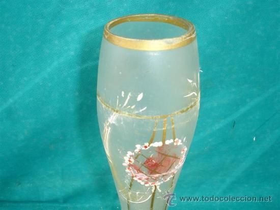 Antigüedades: florero de cristal - Foto 2 - 33665838