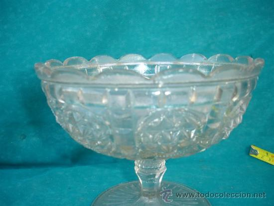 Antigüedades: centro de mesa cristal tallado - Foto 2 - 33666090