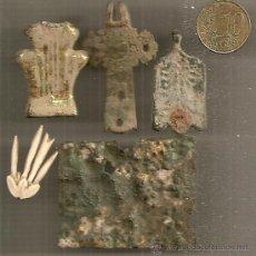 Antigüedades: ARQUEOLOGÍA: LOTE DE 5 APLIQUES ARQUEOLÓGICOS. EPOCA MEDIEVAL. Lote 33675929