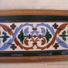 Antigüedades: AZULEJO RAMOS REJANO ENMARCADO. Lote 33687158