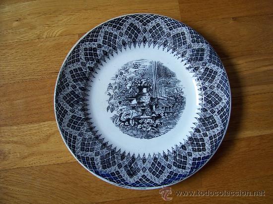 PLATO DE POSTRE CARTAGENA (Antigüedades - Porcelanas y Cerámicas - Cartagena)