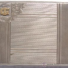 Antigüedades: EXTRAORDINARIA PITILLERA EN PLATA ART DECO. AUSTRIA. 1930.PUNZONADA. 136 GRS. Lote 33737091