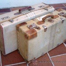 Antigüedades: DOS MALETAS CON SABOR, ANTIGUAS.. Lote 40007505