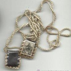 Antigüedades: ANTIGUO PEQUEÑO ESCAPULARIO DE LA VIRGEN DEL CARMEN. Lote 232691535