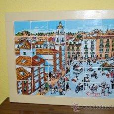 Antigüedades: CUADRO COMPUESTO POR TREINTA AZULEJOS - PLAZA DE LOS MÁRTIRES - MÁLAGA - JAIME DÍAZ RITTWAGEN - 2004. Lote 33754569