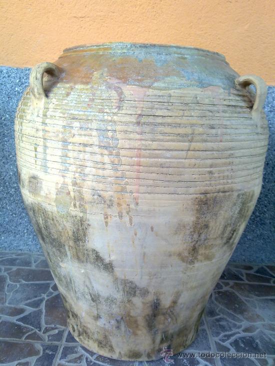 ANTIGUA ORZA U TINAJA DE CUATRO ASAS. PRECIOSA. (Antigüedades - Porcelanas y Cerámicas - Otras)