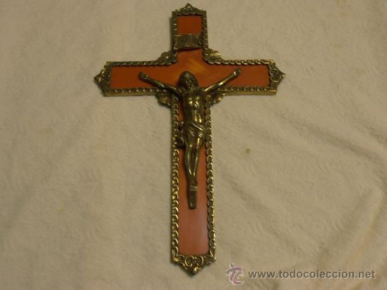 Antigüedades: CRUCIFIJO DE BAQUELITA CON CRISTO DE BRONCE - Foto 4 - 33771812