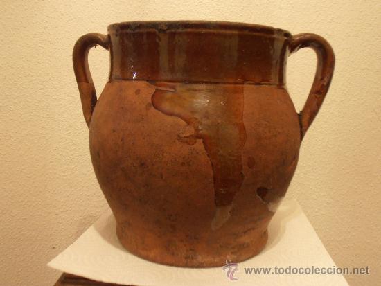 VASIJA DE BARRO, POTE , OLLA, (Antigüedades - Técnicas - Rústicas - Utensilios del Hogar)