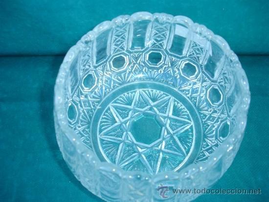 Antigüedades: centro de mesa de cristal tallado - Foto 2 - 33774851