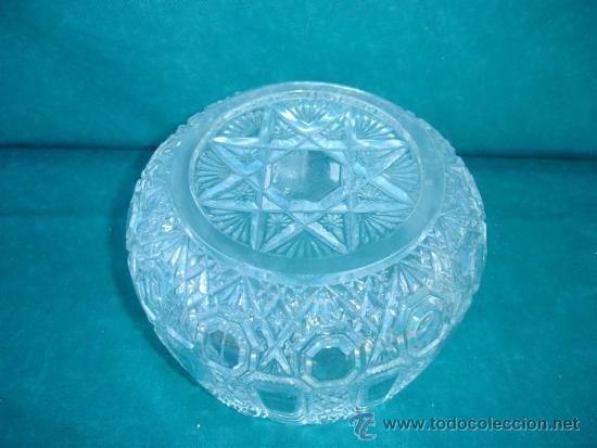 Antigüedades: centro de mesa de cristal tallado - Foto 3 - 33774851