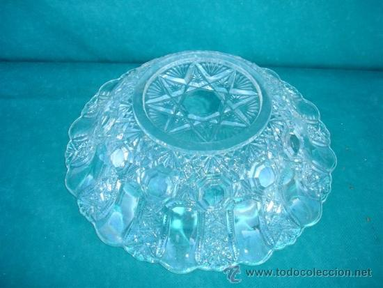 Antigüedades: centro de mesa de cristal tallado - Foto 2 - 33774901