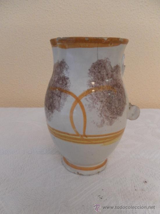 JARRA. CERÁMICA DE RIBESALBES. SERIE ESPONJA. (Antigüedades - Porcelanas y Cerámicas - Ribesalbes)