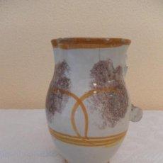 Antigüedades: JARRA. CERÁMICA DE RIBESALBES. SERIE ESPONJA. . Lote 33781553