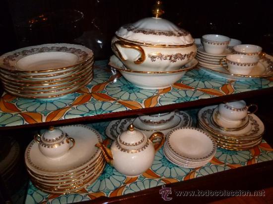 VAJILLA SANTA CLARA Y JUEGO DE CAFÉ (Antigüedades - Porcelanas y Cerámicas - Santa Clara)