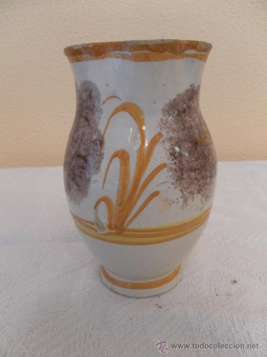 Antigüedades: Jarra. Cerámica de Ribesalbes. Serie esponja. - Foto 4 - 33781553